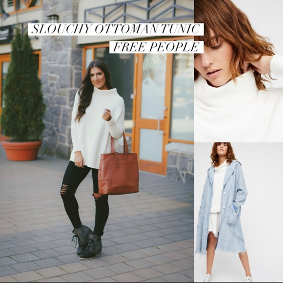 736b07c12ad Free People Sweaters - Free People Slouchy White Ottoman Tunic Top